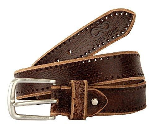 AdamBurk Men's Leather Belt (AB-006--38, Brown, 38)