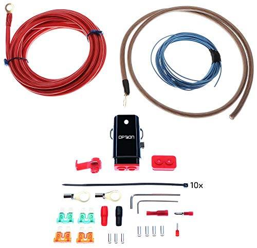 Kabelkit 10 qmm 100% Vollkupfer, Profi Endstufen Anschlusskit 10 mm²