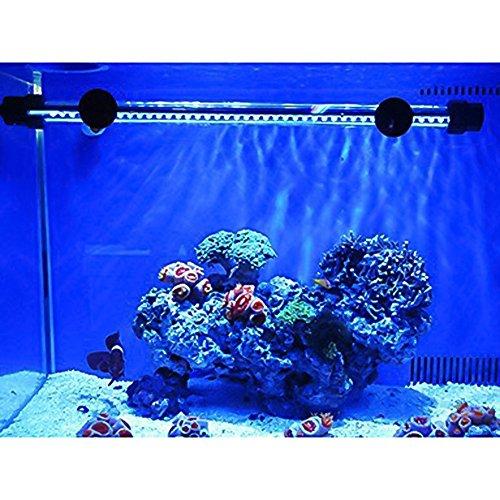 Mingdak LED Aquarium-Licht-Kit für Fischtank, Unterwasser-Tauchkristallglas-Leuchten, geeignet für Salzwasser und Süßwasser, 18 Leds, 7,5-Zoll, Beleuchtungsfarbe Blau -