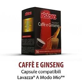 128 capsule Ristora caffe al Ginseng Dolce compatibili Lavazza A Modo Mio