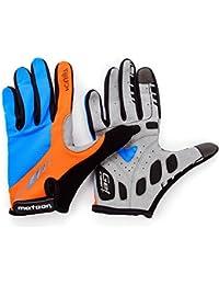 –Guantes Full Meteor FX11para ciclismo mtb Road Race Downhill Senderismo y otras Sports Unisex..., large