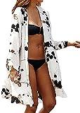 L-Peach Donna Camicia Copricostumi Parei per Costume da Bagno per Spiaggia Bikini Cover Up