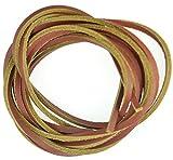 Zweifarbige Lederschnürsenkel im Timberland Style