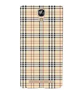 FUSON Plaid Striped Fabric 3D Hard Polycarbonate Designer Back Case Cover for Gionee Marathon M5 Plus