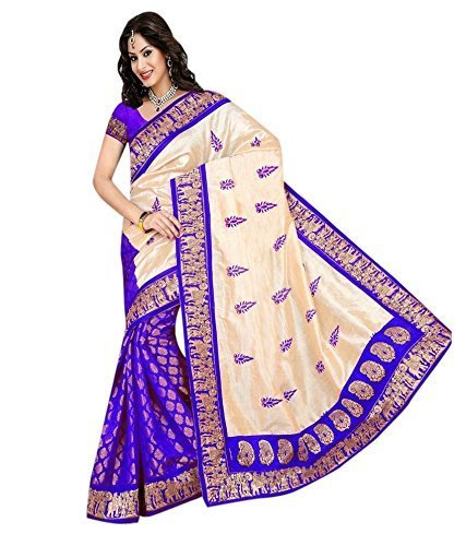Great Indian Festival Sarees for Women Latest design for Party Wear Offer Low Price Sale TURQUOISE & BEIGE Color Georgette COTTON Fabric Free Size Sari