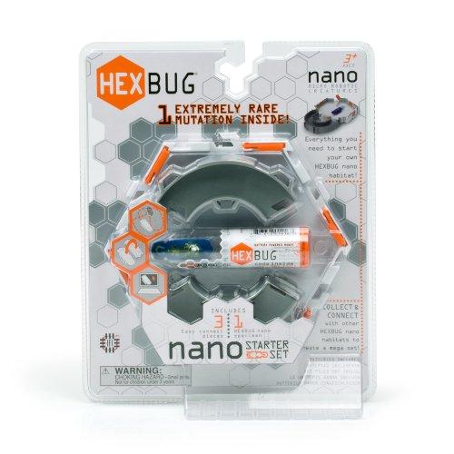 Hexbug Nano - Construct - Starter Set - 6 Eléments + 1 Robot Insecte 2cm (Import Royaume-Uni)