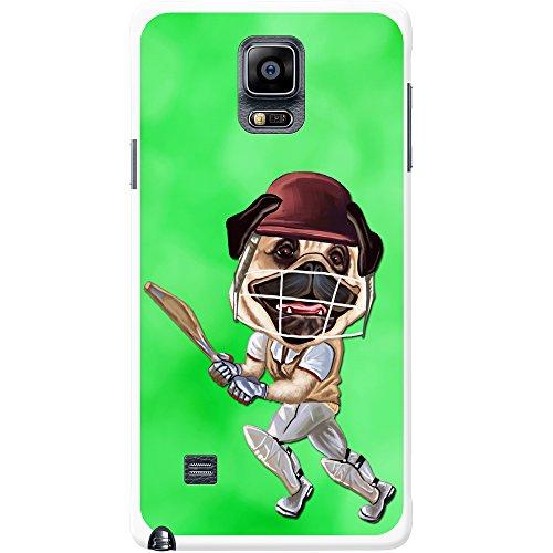 Cricket Mops spielt mit Schläger & Helm Hartschalenhülle Telefonhülle zum Aufstecken für Samsung Galaxy Note 4 (N910)