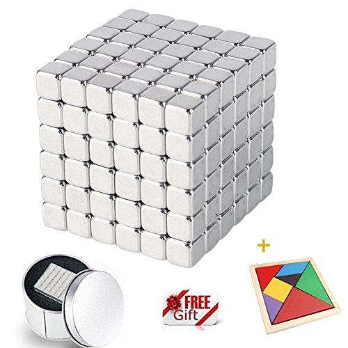 Juguetes de escritorio, EverFabulous 3CMx3CM 216 PCS Desarrollo intelectual y Stress Relief Juguetes 3D Magnetic Cube Magic Square con DIY Rompecabezas de madera para el entorno de la Oficina