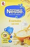 NESTLÉ Papilla 8 cereales con Miel - Alimento para Bebés - Paquete de 6 x 600 g - Total: 3.6 kg