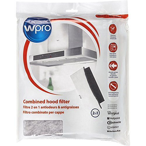 Wpro ucf016capuche-Extracteur d'air Accessoire Filtre pour hotte aspirante/charbon actif et filtre graisse de/universel/peut être coupé à
