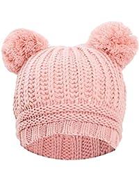 Toocool - Cappello Cappellino Donna Kawaii Berretto Tricot Pompon ponpon  Maglia YF-2063 35dafe6ae06b