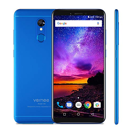 Vernee M6 4G Teléfono Móvil Pantalla HD + 18: 9 de 5,7 pulgadas MT6750 Ocho nucleos 4 GB + 64 GB 16 MP + 13 MP 3300...