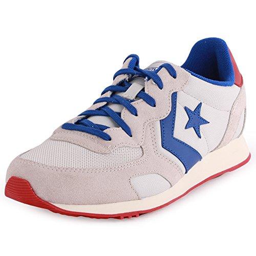 Converse  Auckland Racer Ox Nylon/Suede, Baskets Auckland Racer mixte adulte Gris - vaporous grey/off whte/radio blue