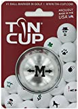 TIN CUP. GOLF BALL MARKER SYSTEM. ALPHA PLAYERS SERIES. LETTER M