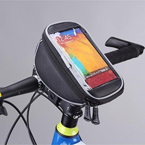 Tofern Fahrrad Radfahren Lenkertasche Lenker Beutel Handy Halterung - Schnalle, 4.8 Zoll Bildschirm Touch Tasche Fits IPhone Samsung LG Sony HTC mit Bildschirm 4~5.7 Zoll - M 4,8 Zoll