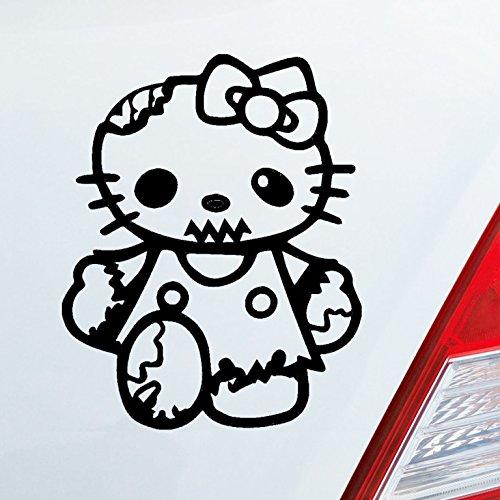 Auto Aufkleber in deiner Wunschfarbe Zombie Hello Kitty Katze Horror Dub OEM JDM 10x13cm Autoaufkleber Sticker Folie