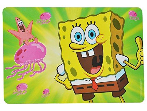Schwammkopf Patrick Spongebob Star Und (Unterlage - Spongebob Schwammkopf mit Patrick Star - 43 cm * 29 cm - Tischunterlage / Platzdeckchen / Malunterlage / Knetunterlage / Eßunterlage - Bugs Bunny Taz Tiere - für)
