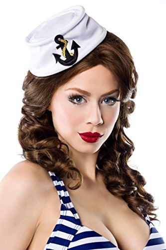 Matrosenmütze Minihut Seemann Rockabilly PinUp Burlesque Kostüm Hut (Seemann Kostüm Hüte)