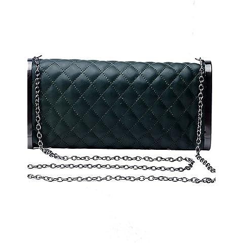 Da Wu Jia Ladies borsetta di alta qualità delle donne di lusso elegante high-grade Plaid Borsa serale , blu