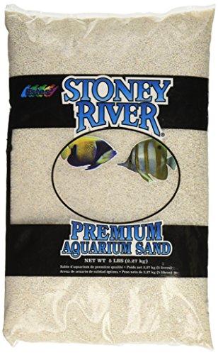 Stoney River White Aquatic Sand Freshwater and Marine Aquariums, 5-Pound Bag 1