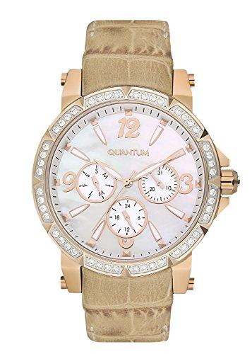 QUANTUM Damen-Armbanduhr Impulse Chronograph Quarz Leder IML425.425