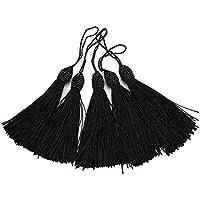 RUBY-5 pcs Borlas de Hilo Flecos para manualidades (Negro)