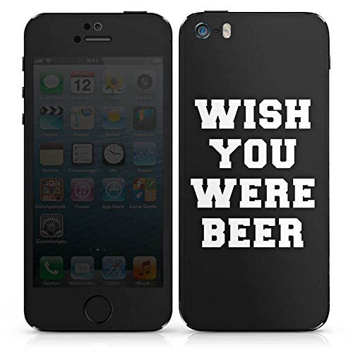 Apple iPhone 4s Case Skin Sticker aus Vinyl-Folie Aufkleber Bier Lustig Sprüche DesignSkins® glänzend