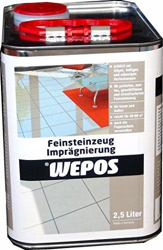 Wepos 2000204419 Feinsteinzeug Imprägnierung 2,5 L - Feinsteinzeug