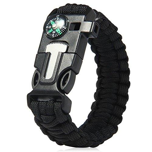 SECRETO 5in 1Schwarz Paracord Armband