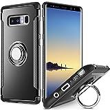 Samsung Galaxy Note 8 Coque avec béquille, FOURCHEN Coque de Protection Robuste en Anti-Chocs Anti-Rayures avec Anneau, rotatif à 360°magnétique support de voiture Coque pour Samsung Galaxy Note8
