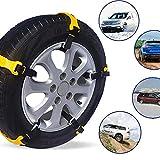 SSFQCFHL 2 Reifenkette mit Schneekette pneumatische Anti-Rutsch-Vorhängeschloss Auto Limousine Notausstieg