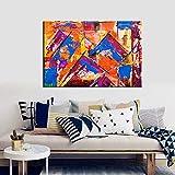 NIMCG Cartel de patrón de Arte Abstracto e impresión de Lienzo de Pared para Hotel Oficina decoración del hogar Pintura en Aerosol Imagen Decorativa para Dormitorio (sin Marco) A1 20x30 cm
