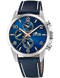 3c9989e2a410 Lotus Reloj Cronógrafo para Hombre de Cuarzo con Correa en Cuero 18630 2
