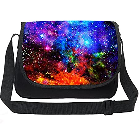 CAIWEI Vintage Leinwand Messenger Bag Laptop Aktentasche Satchel Schultertasche Bookbag Printing Universum Raum Trendy Max Galaxy Pattern Schultertasche