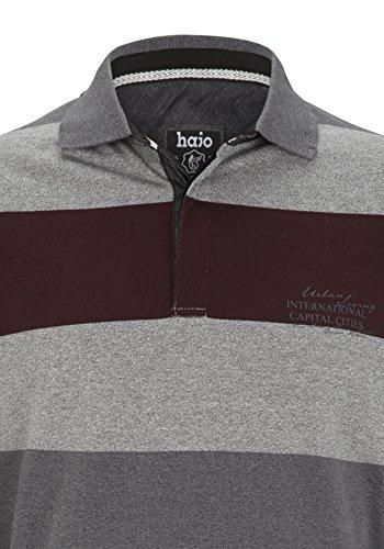 hajo Herren Sweatshirt Rugbyshirt Stay Fresh Bordeaux
