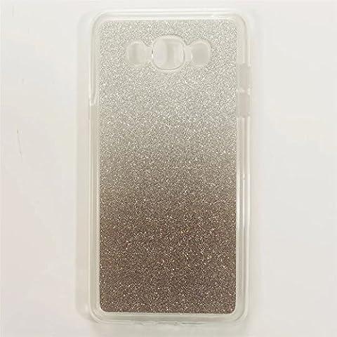 MUTOUREN Coque case pour Samsung Galaxy J3 J310 TPU Silicone AntiChoc Etui Housse Coque Case Cas Housse de Protection gradient de couleur -Gradient Black Noir