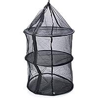 ~ 3 Capa Anti-Mosquito Colgando De Secado Cesta del Almacenaje para Acampar Al Aire Libre Pesca