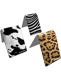 Stray Decor (Animal Hides) 3x Étui à Cartes / Porte-Cartes pour Titres de Transport, Passe d'autobus, Cartes de Crédit, Navigo Pass, Passe Navigo et Moneo COMBO