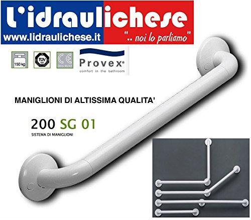 MANIGLIONE PROVEX IN ALLUMINIO PLASTIFICATO SERIE 200 mm.550