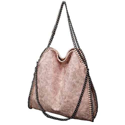TOYIS slouch bag - Bolso al hombro de Guarnición: Piel para mujer Rosa rosa talla única