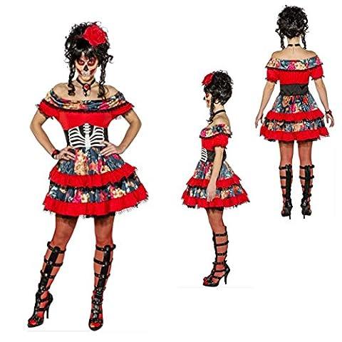 Costumes Dia De Los Muertos - Costume sexy Dia de los Muertos Robe
