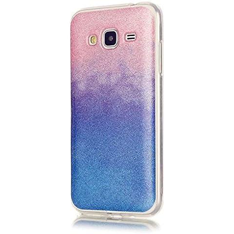 KSHOP Cáscara silicona TPU Bling Bling para Samsung Galaxy J3(2016)J310 Funda caso cristal color brillo Hermosa reluciente Case Cover anti los golpes - rosa y