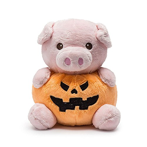 "unlockgift 10"" Stuffed Animal Toys,Halloween Pumpkin Plush Piggy Toys Novelty Toys Gifts For Children Birthday Xmas"