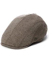 Siggi Mens Flat duckbill Hat newsboy Driving Cap 57-60CM Elastic Size 5 Colors