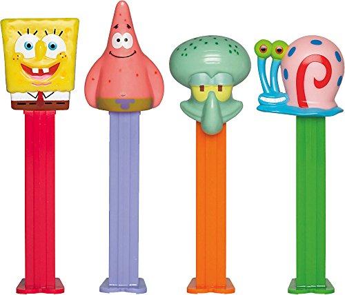 spongebob-squarepants-pez-distributeur-avec-deux-refils-vendu-lunit-un-seul-caractre-fourni-au-hasar