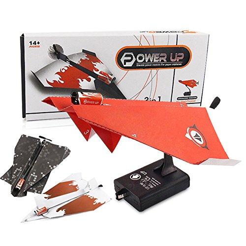 Frame Mini Anhänger (Zantec Kreative Kinder Elektrische Power Up Papier Flugzeug Mini Flugzeug Modell DIY Fliegen Kit Spielzeug (Zufällige Farbe))