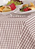 Country Look Gingham Oatmeal Pack Of 4 Napkins 17in x 17in (43x43cm)