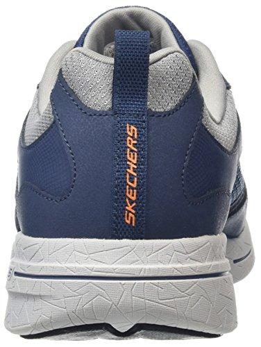 Skechers Qtr Overlay W Air Coo, Chaussures Multisport Outdoor Homme Bleu (Nvor)