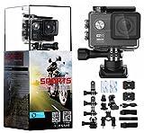 odowalker Sport Action Kamera Ultra HD Camcorder w/Sony Sensor 16MP WIFI Wasserdichte Kamera 170Grad Weitwinkel 5,1cm LCD-Bildschirm w/App Fernbedienung für Surfen Tauchen Schwimmen Skifahren