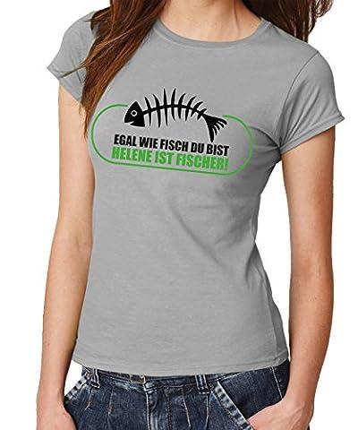 -- Egal wie Fisch du bist... -- Girls T-Shirt Sports Grey, Größe M